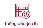 Thông báo lịch thi